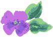 古典花卉底纹0013,古典花卉底纹,中国古典画,水彩花 紫花瓣