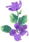 古典花卉底纹0018,古典花卉底纹,中国古典画,紫色花朵