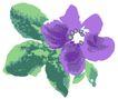古典花卉底纹0022,古典花卉底纹,中国古典画,独枝 浅墨 花饰
