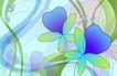 古典花卉底纹0080,古典花卉底纹,中国古典画,抽象花世界 紫绢花 柔软花瓣