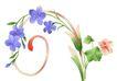 古典花卉底纹0084,古典花卉底纹,中国古典画,紫色花  花朵 盛开