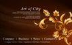 古典花卉底纹0109,古典花卉底纹,中国古典画,金色 花枝 富贵