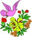 失量古典图案0155,失量古典图案,中国古典画,扑翅 飞舞 鸟姿
