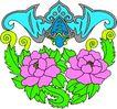 失量古典图案0156,失量古典图案,中国古典画,青翼 蝠王 花团