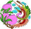失量古典图案0169,失量古典图案,中国古典画,紫色 仙桃 圣果