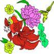 失量古典图案0180,失量古典图案,中国古典画,金丝鲤 浮游 水底