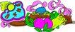失量古典图案0181,失量古典图案,中国古典画,仙果 供品 祭祀