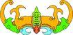 失量古典图案0182,失量古典图案,中国古典画,黄色 翅膀 蝙蝠