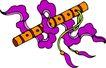 失量古典图案0189,失量古典图案,中国古典画,橘黄 竹笛 紫带