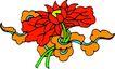 失量古典图案0192,失量古典图案,中国古典画,血红色 橘红色 古典画