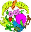失量古典图案0197,失量古典图案,中国古典画,色彩 花朵 果实