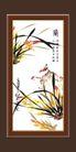 梅兰竹菊0003,梅兰竹菊,中国古典画,河畔 兰花 水草