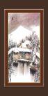 梅兰竹菊0008,梅兰竹菊,中国古典画,冬天 雪景 覆盖