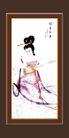 梅兰竹菊0009,梅兰竹菊,中国古典画,古代 美女 姿色