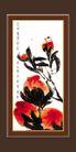 梅兰竹菊0015,梅兰竹菊,中国古典画,花苞 蜻蜓 作品展览