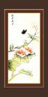 梅兰竹菊0038,梅兰竹菊,中国古典画,花香蝶恋 黑蝴蝶 枝条