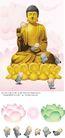 民族宗教0008,民族宗教,中国古典画,金莲 宝座 闭眼
