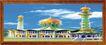 民族宗教0011,民族宗教,中国古典画,画匾 彩色绘画 城堡