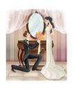 婚纱0028,婚纱,韩国花纹Ⅲ,求婚 场景 鲜花