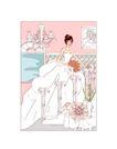 婚纱0031,婚纱,韩国花纹Ⅲ,新娘 楼梯 壁画