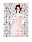 婚纱0035,婚纱,韩国花纹Ⅲ,粉红女郎 珠帘 性感身材