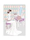 婚纱0040,婚纱,韩国花纹Ⅲ,梳妆台 镜子 皇冠