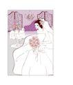 婚纱0043,婚纱,韩国花纹Ⅲ,手捧 鲜花 幸福