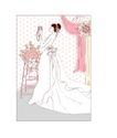 婚纱0044,婚纱,韩国花纹Ⅲ,照镜子 整理 化妆