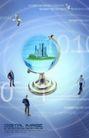 幻彩商务0056,幻彩商务,韩国花纹Ⅲ,三角对立 地球仪 建设蓝图