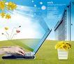 幻彩商务0061,幻彩商务,韩国花纹Ⅲ,电脑 高楼 花卉