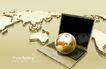 幻彩商务0066,幻彩商务,韩国花纹Ⅲ,地图 地球 电脑