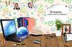 幻彩商务0075,幻彩商务,韩国花纹Ⅲ,白领的桌子 鼠标 英文书