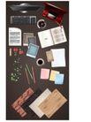 幻彩商务0090,幻彩商务,韩国花纹Ⅲ,书本  钢笔 信纸