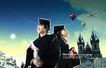 校园书生毕业生0012,校园书生毕业生,韩国花纹Ⅲ,年轻 美好前程 热气球