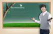 校园书生毕业生0026,校园书生毕业生,韩国花纹Ⅲ,粉笔字 黑板刷 老师