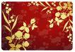 花纹0118,花纹,韩国花纹Ⅲ,红色  丝绸  图案