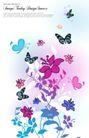 花纹0155,花纹,韩国花纹Ⅲ,粉色 飞舞 背景