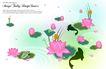 花纹0169,花纹,韩国花纹Ⅲ,青蛙 莲藕 花朵
