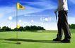 高尔夫0003,高尔夫,韩国花纹Ⅲ,黄色 小旗 标杆