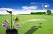 高尔夫0013,高尔夫,韩国花纹Ⅲ,影子 高尔夫 绿树