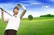 高尔夫0018,高尔夫,韩国花纹Ⅲ,帽子 手套 挡住