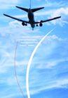 交通工具0042,交通工具,版式设计,蓝天 白云 客机