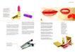 化妆品0036,化妆品,版式设计,镜子 各式口红 红唇