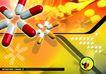 医疗0017,医疗,版式设计,胶囊 药品 拼花
