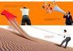 商务0063,商务,版式设计,箭头 国旗 男士