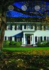建筑风景0052,建筑风景,版式设计,草坪 落叶 吊篮