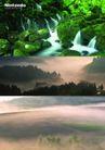 建筑风景0089,建筑风景,版式设计,云雾 高山  流水