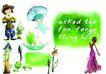 插画0062,插画,版式设计,稻草人 美人 洋娃娃