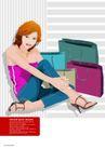 插画0066,插画,版式设计,纸袋 项链 长臂