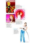 插画0071,插画,版式设计,时尚女性 化妆师 健美教练